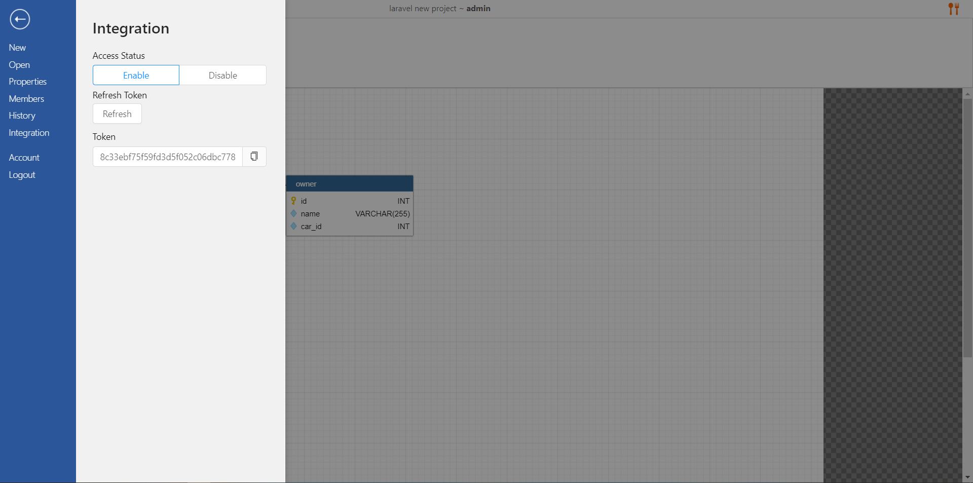 access integration in dynobird.com