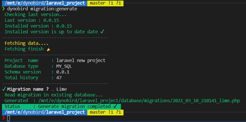 generate databse design from dynobird.com